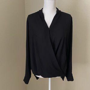 Pleione drape blouse black Medium